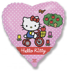 Шар Сердце, Хелло Китти на велосипеде / Hello Kitty