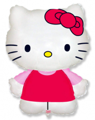 Шар Мини-фигура Котенок с бантиком Хелло Китти / Hello Kitty (в упаковке)