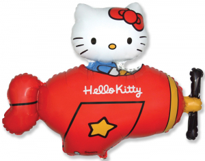 Шар Мини-фигура Хелло Китти в самолете / Hello Kitty Красный (в упаковке)